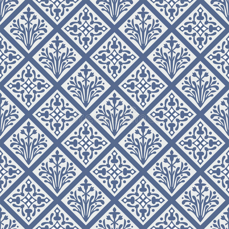 Reticolo floreale di vettore gotico variopinto senza giunte illustrazione vettoriale