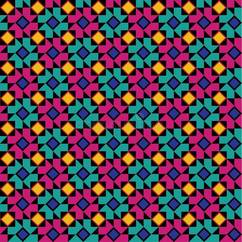Reticolo floreale geometrico variopinto illustrazione vettoriale