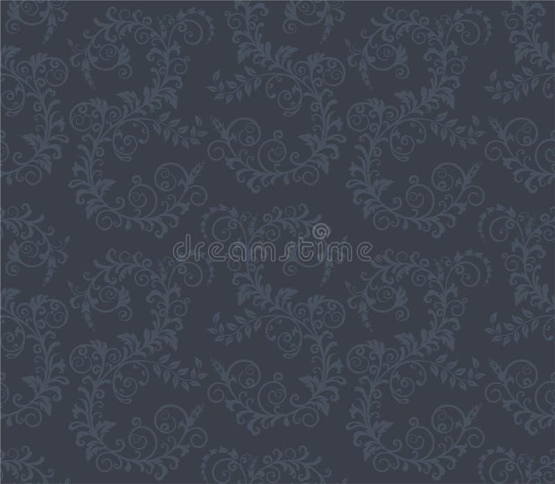 Reticolo floreale grigio scuro senza giunte royalty illustrazione gratis