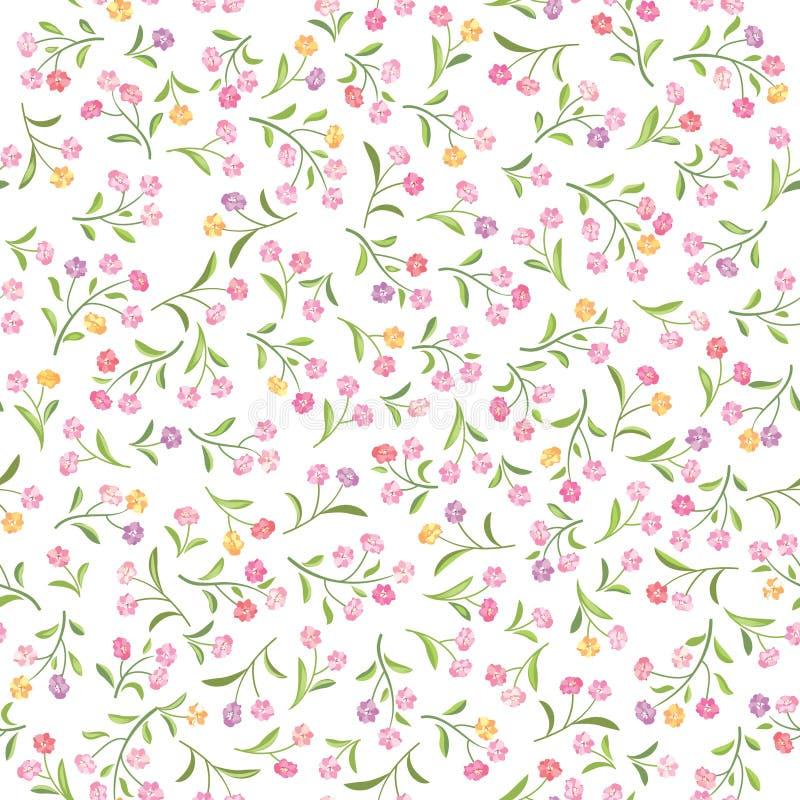 Reticolo floreale Priorità bassa senza giunte del fiore Ornamentale di Flourish illustrazione di stock