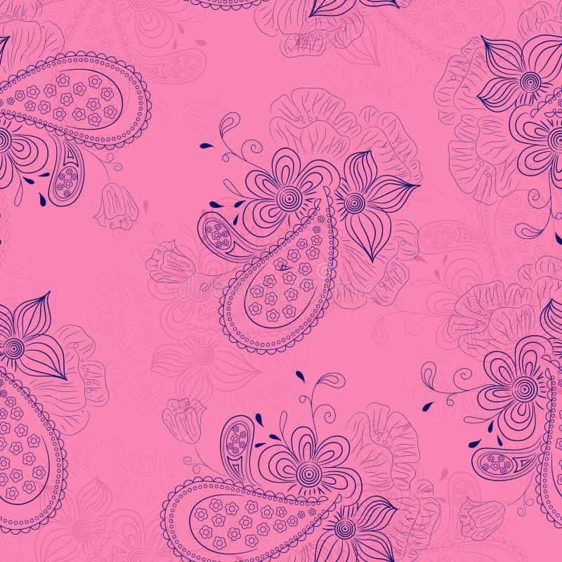 Reticolo floreale rosa illustrazione vettoriale
