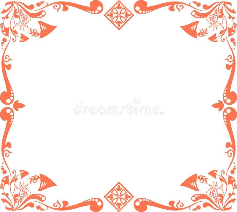 Reticolo floreale rosso royalty illustrazione gratis