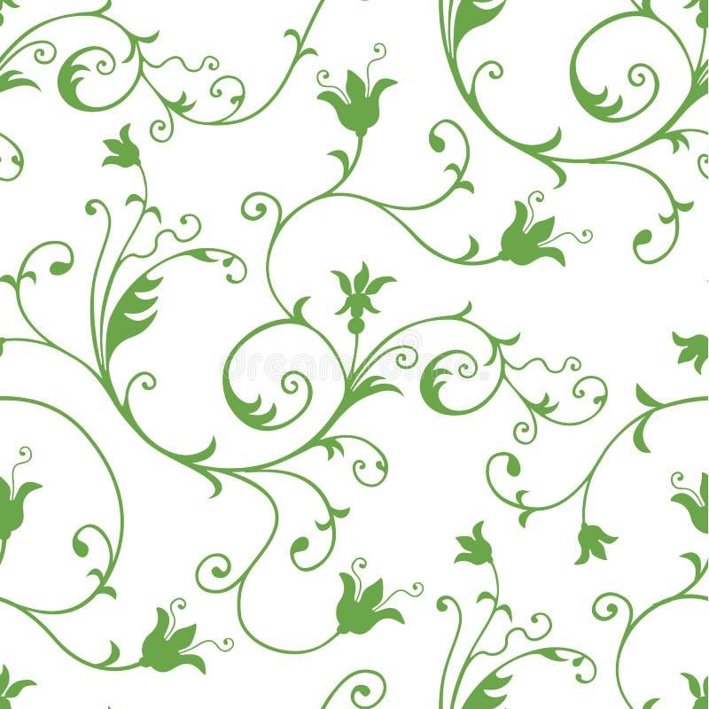 Reticolo floreale senza cuciture illustrazione di stock