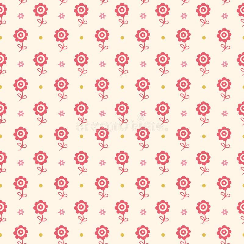 Reticolo floreale senza cuciture. I fiori strutturano per i bambini. royalty illustrazione gratis