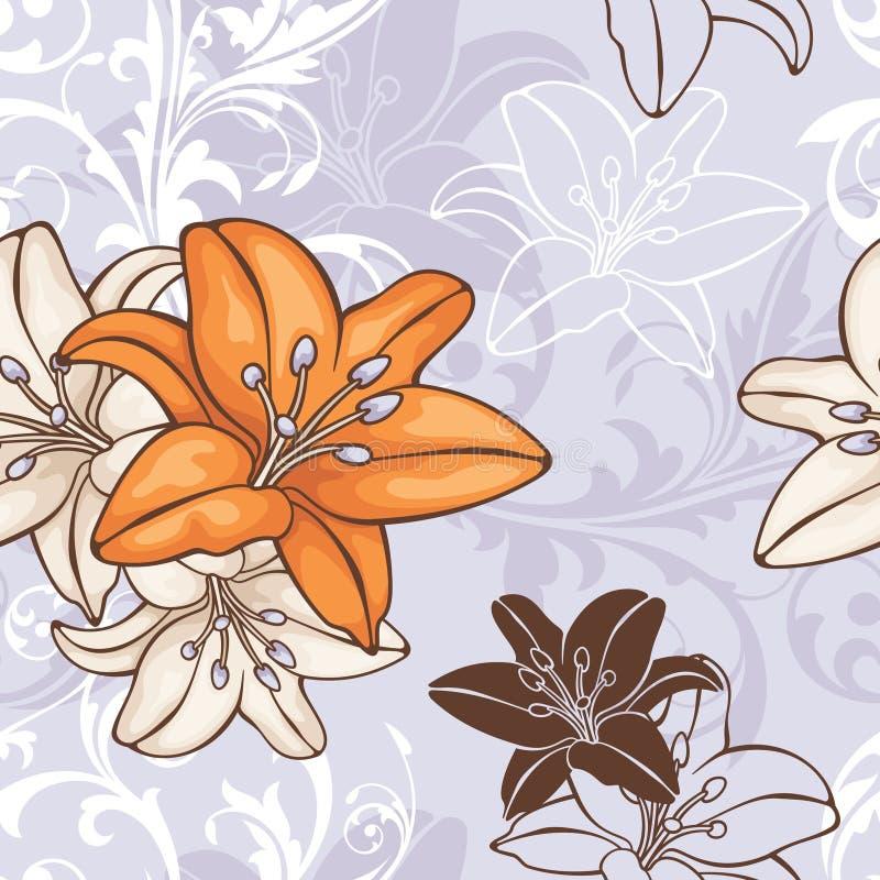 Reticolo floreale senza giunte illustrazione vettoriale