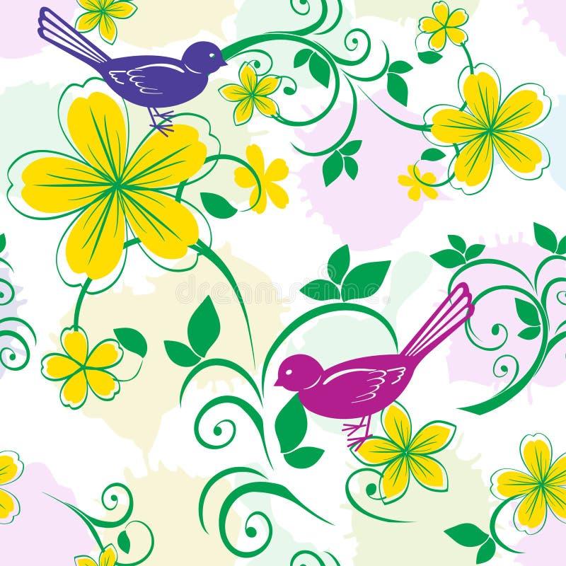 Reticolo floreale senza giunte illustrazione di stock