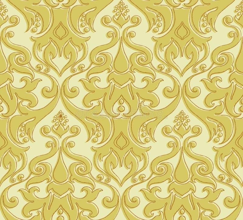 Download Reticolo Floreale Senza Giunte Illustrazione Vettoriale - Illustrazione di brown, scuro: 55354275
