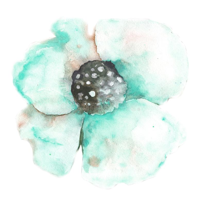 Reticolo floreale senza giunte con i papaveri Disegno dell'acquerello per la progettazione di tessuto, fondo, carta da parati, co royalty illustrazione gratis