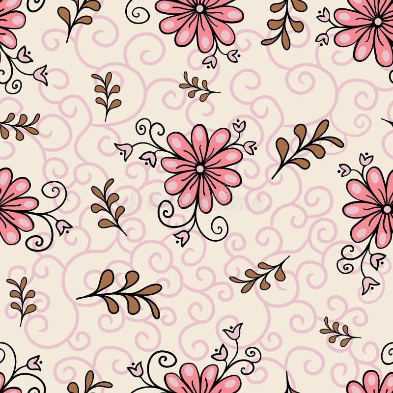 Reticolo floreale senza giunte Stile variopinto luminoso astratto moderno Disegnato a mano, - azione Fondo o carta da parati, mod fotografie stock