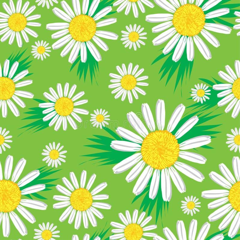 Reticolo floreale sveglio senza giunte illustrazione vettoriale