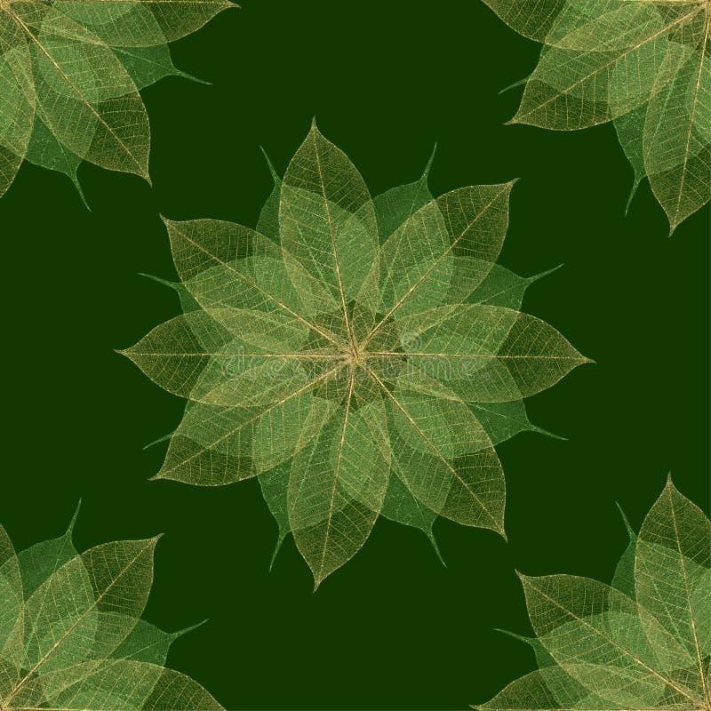 Reticolo floreale verde di natale illustrazione di stock