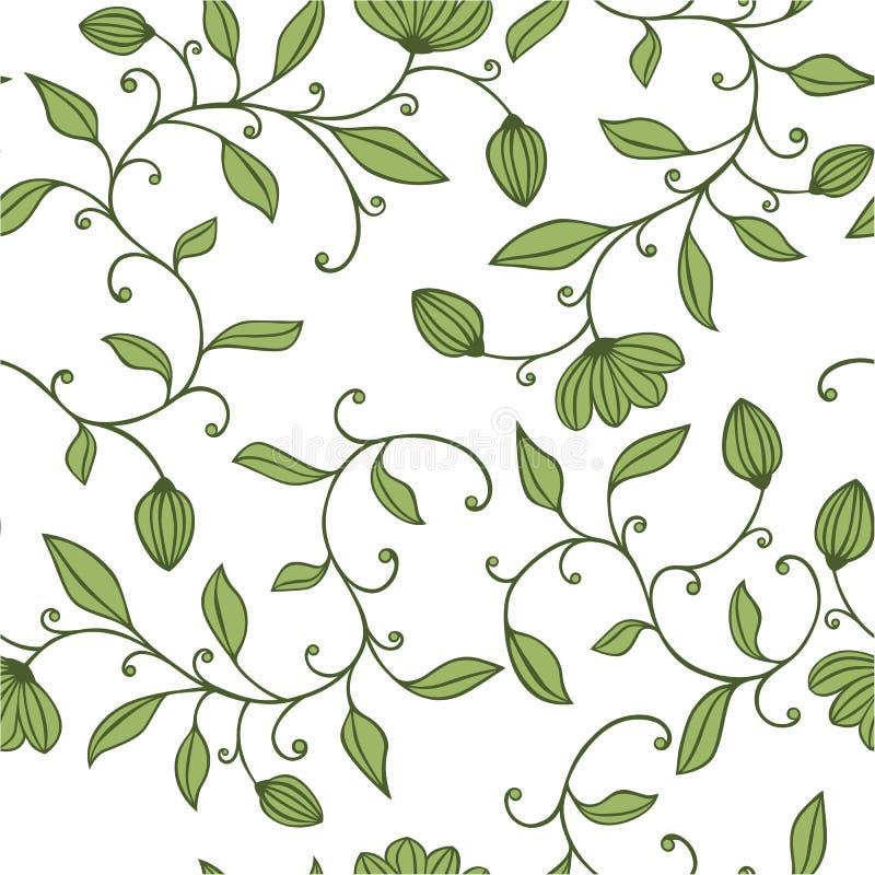 Reticolo floreale verde senza giunte illustrazione vettoriale
