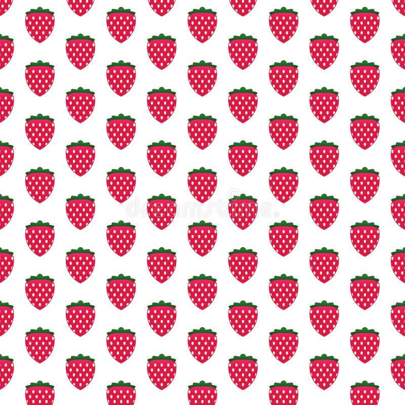 Reticolo fresco del grafico della frutta della fragola illustrazione di stock