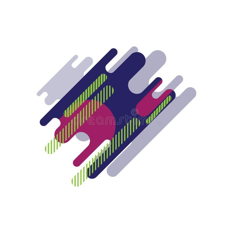 Reticolo geometrico Ambiti di provenienza variopinti Applicabile per le insegne, cartelli, manifesti, alette di filatoio EPS10 illustrazione vettoriale