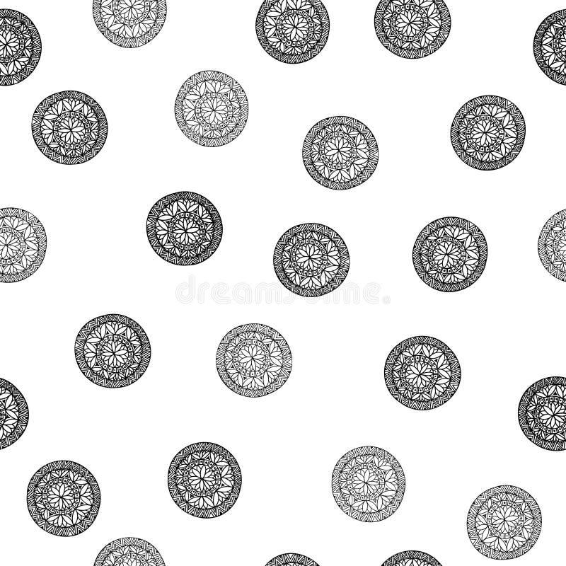 Reticolo geometrico astratto Origine etnica orientale floreale a illustrazione vettoriale