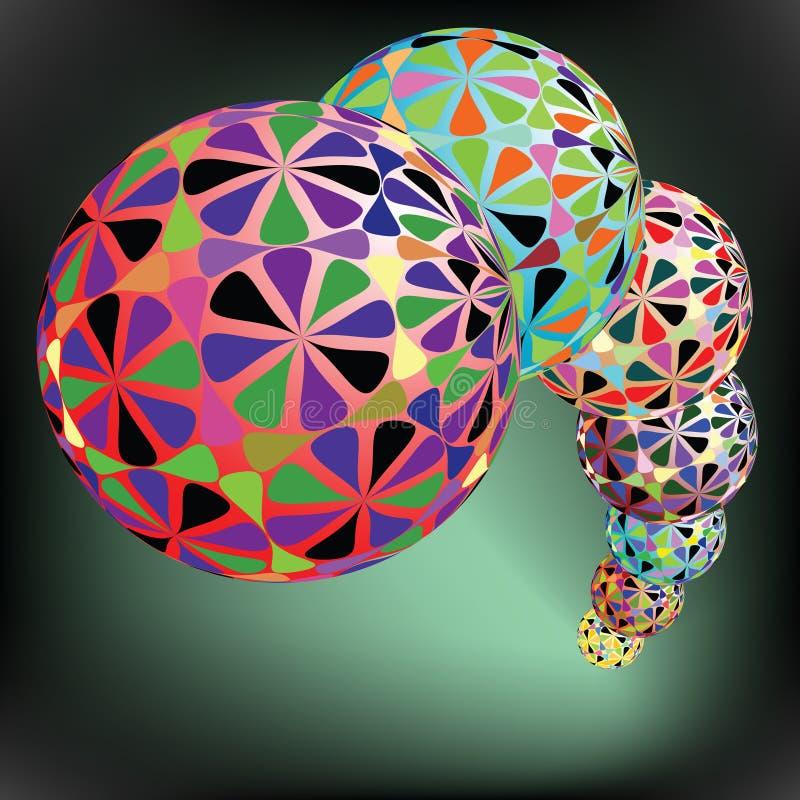 Reticolo geometrico delle bolle royalty illustrazione gratis