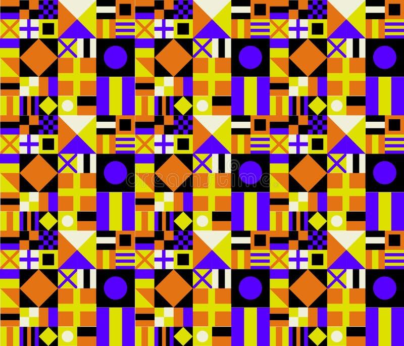 Reticolo geometrico di retro colori illustrazione di stock