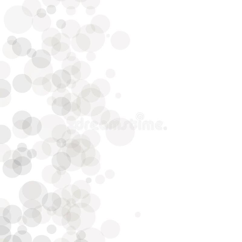 Reticolo geometrico di vettore Struttura moderna nel monocromio Progettazione punteggiata Grey Mattonelle alla moda dei cerchi Fo illustrazione vettoriale