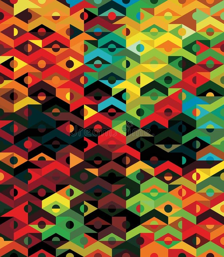 Reticolo geometrico etnico astratto di vettore - fondo illustrazione vettoriale