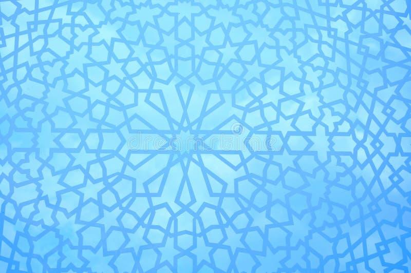 Reticolo geometrico marocchino illustrazione vettoriale