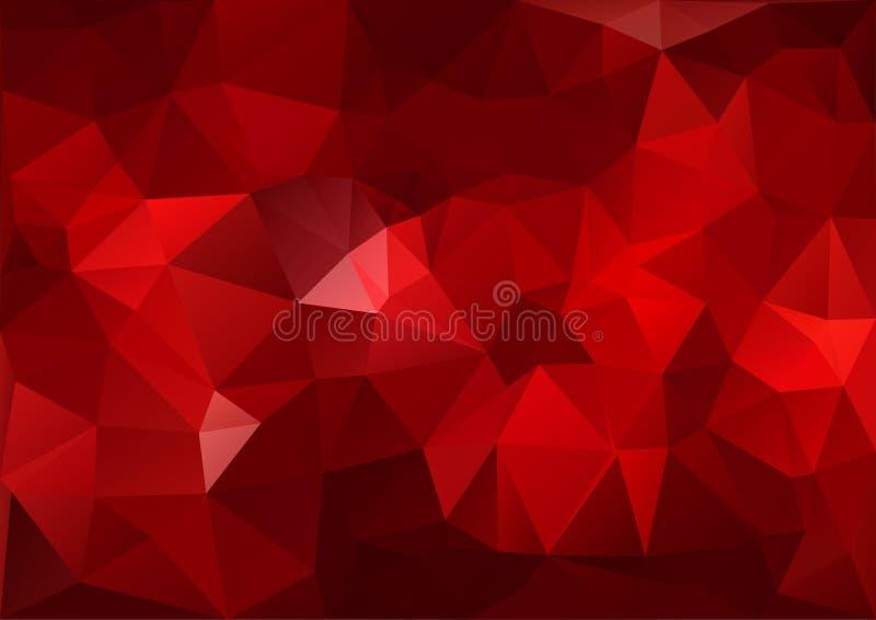 Reticolo geometrico rosso royalty illustrazione gratis