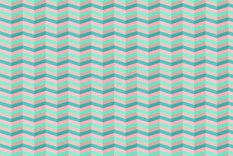 Reticolo geometrico senza giunte con gli zigzag Pu? essere utilizzato in tessuti, per progettazione del libro, il fondo del sito  royalty illustrazione gratis