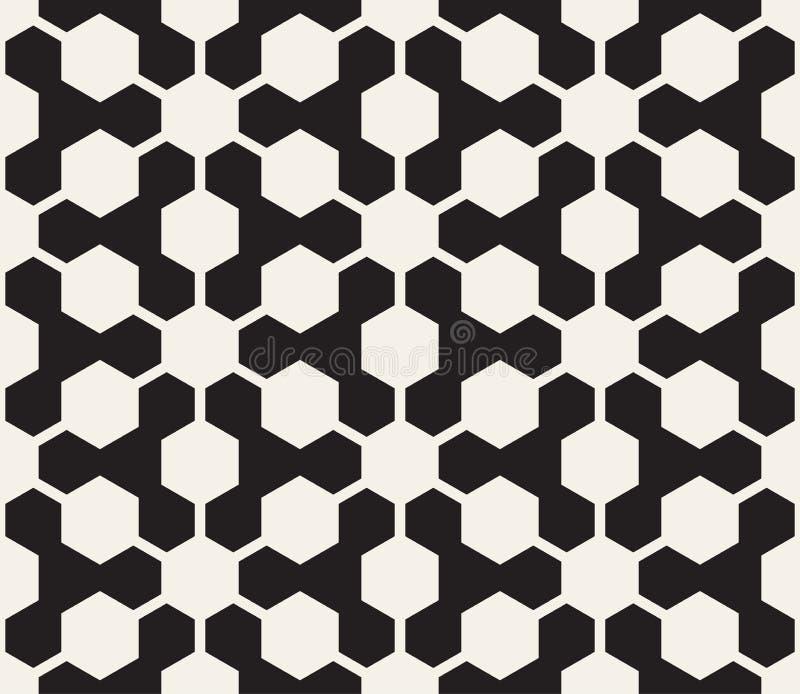 Reticolo geometrico senza giunte di vettore Fondo astratto di contrasto Griglia poligonale con le forme audaci illustrazione vettoriale