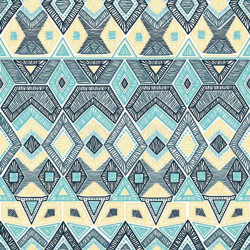 Reticolo geometrico senza giunte Motivi del ricamo handmade Vettore royalty illustrazione gratis