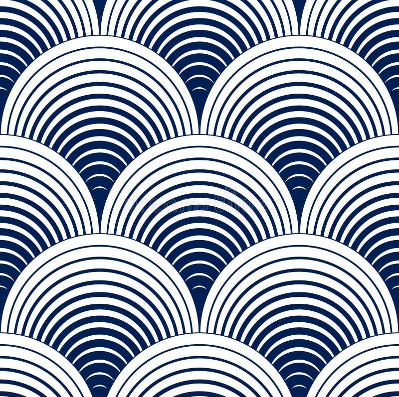 Reticolo geometrico senza giunte Prin semplice geometrico del tessuto di modo royalty illustrazione gratis