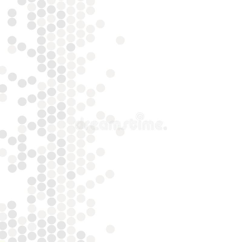 Reticolo geometrico Struttura moderna nel monocromio Progettazione punteggiata Grey Mattonelle alla moda dei cerchi Fondo astratt illustrazione di stock