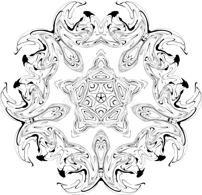 Reticolo gotico delle curve illustrazione di stock