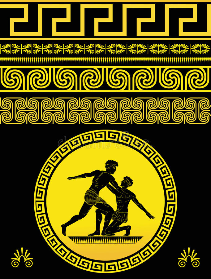 Reticolo greco royalty illustrazione gratis