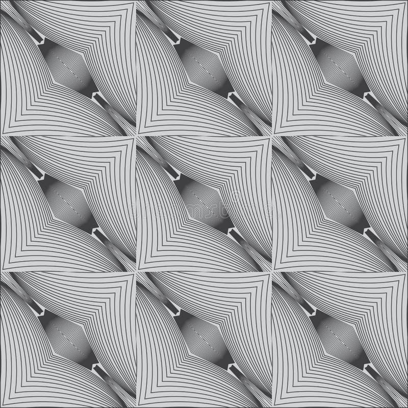 Reticolo lineare in bianco e nero psichedelico royalty illustrazione gratis