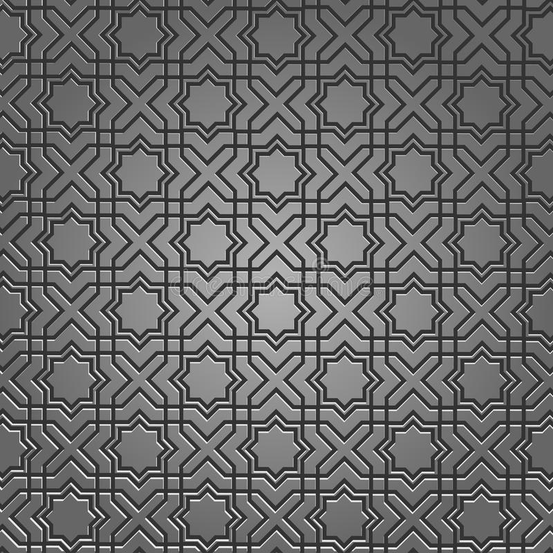 Reticolo metallico sul motivo islamico illustrazione di stock