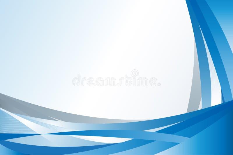 Reticolo moderno dell'onda blu illustrazione di stock