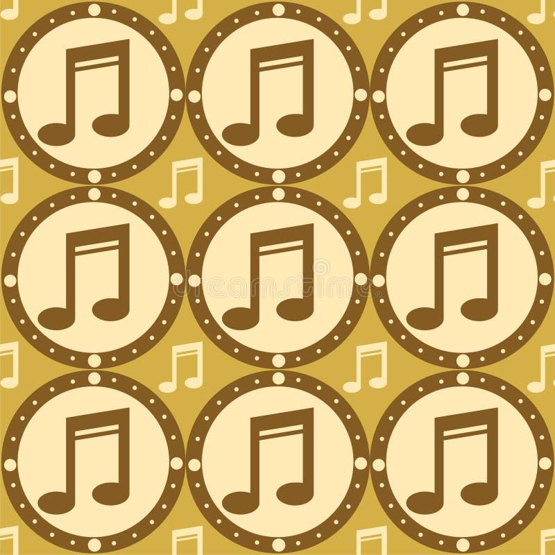 Reticolo musicale sveglio illustrazione di stock
