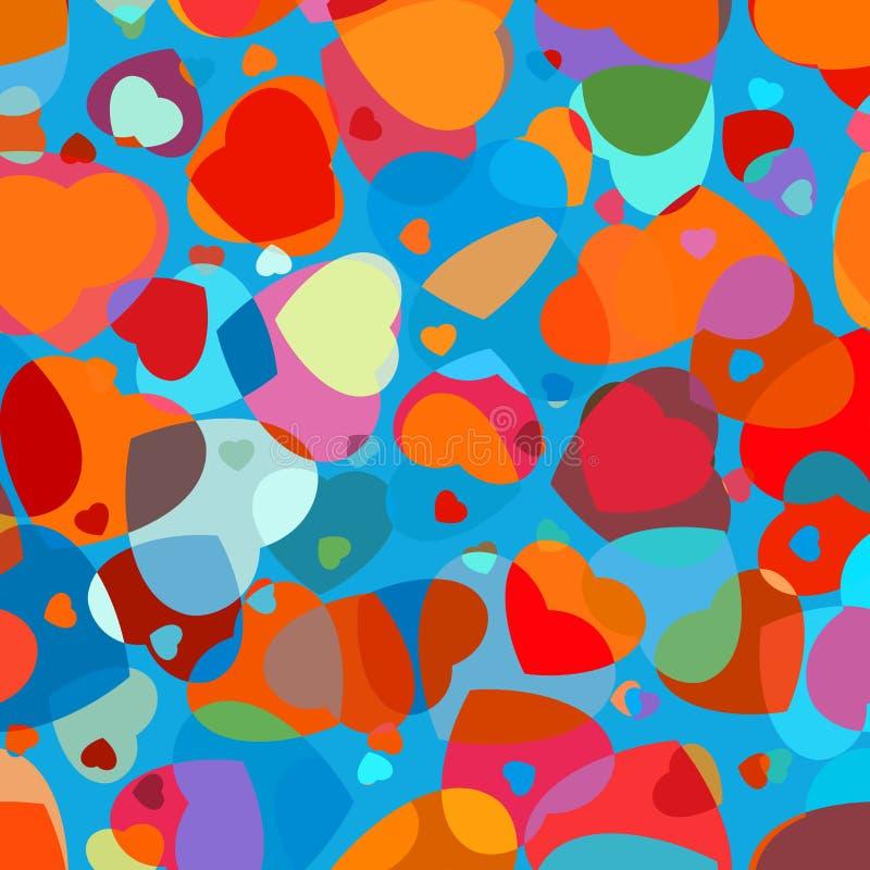 reticolo olorful di vettore del cuore. ENV 8 illustrazione di stock