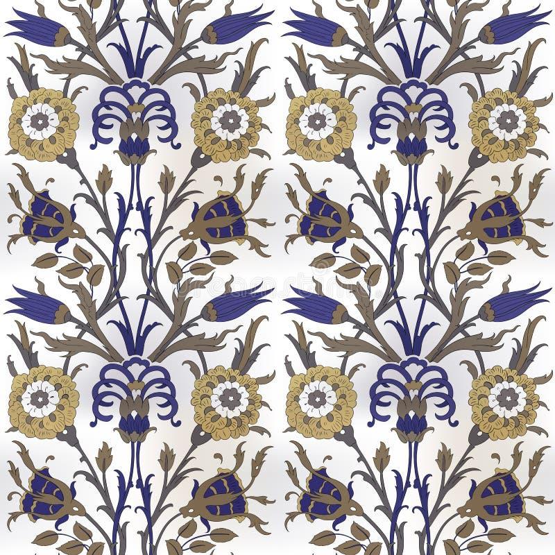 Reticolo ornamentale floreale Ornamento senza cuciture arabo tradizionale royalty illustrazione gratis