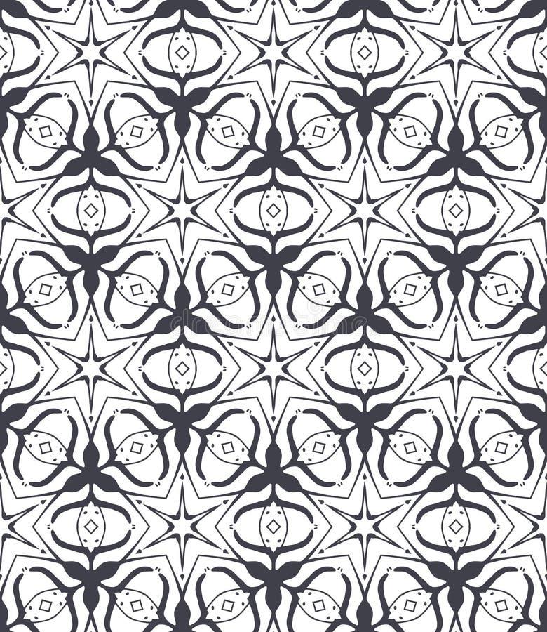 Reticolo ornamentale Piastrellatura senza cuciture araba royalty illustrazione gratis