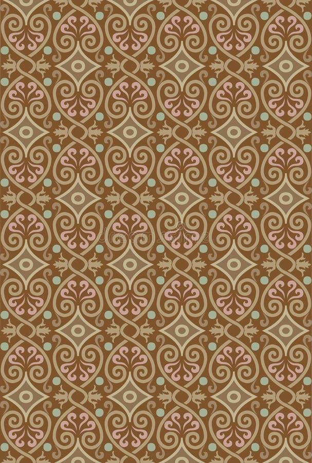Reticolo ornamentale senza giunte illustrazione vettoriale