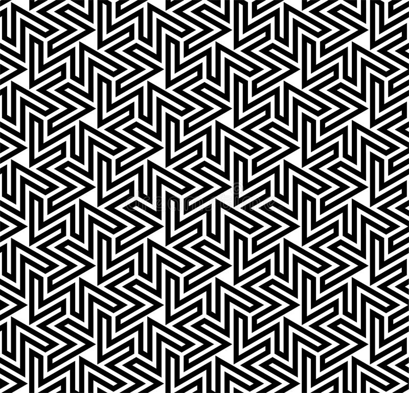 Reticolo ottico di Arabesque illustrazione vettoriale