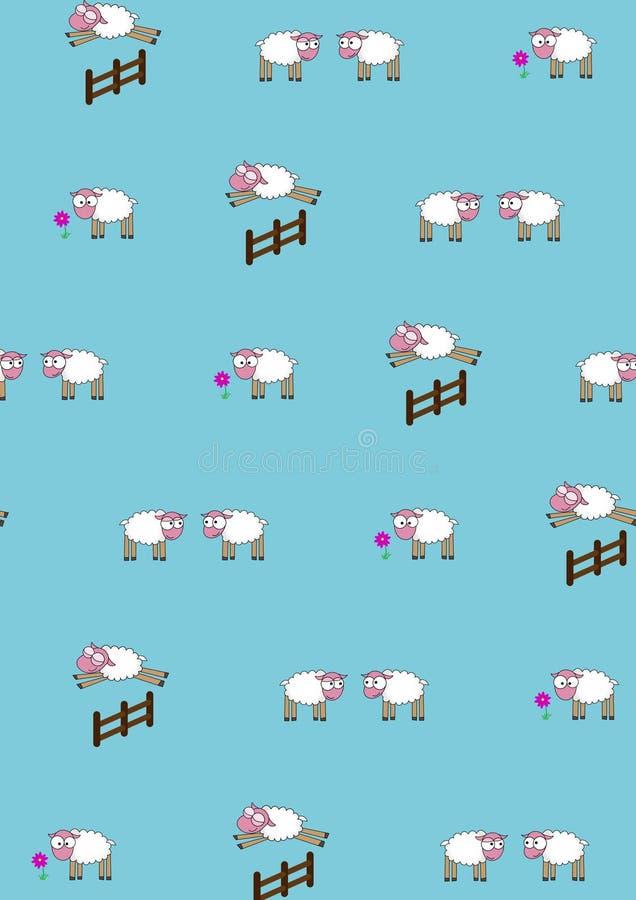 Reticolo Piccole pecore divertenti immagini stock libere da diritti