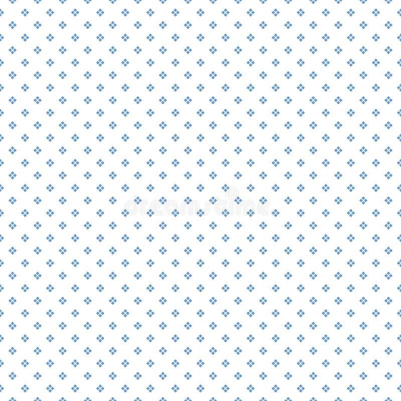 Reticolo punteggiato senza giunte Punti quadrati blu su fondo bianco illustrazione di stock
