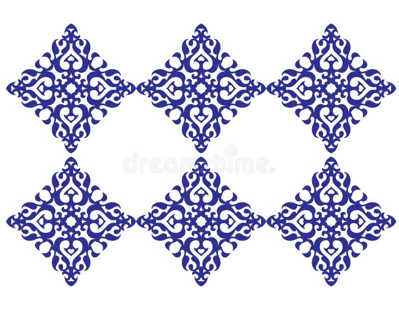 Reticolo quadrato del mosaico illustrazione di stock