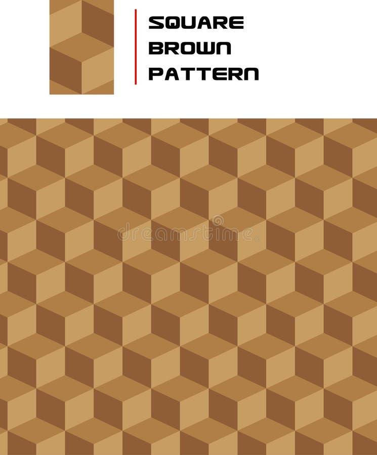 Reticolo quadrato senza giunte del Brown illustrazione di stock