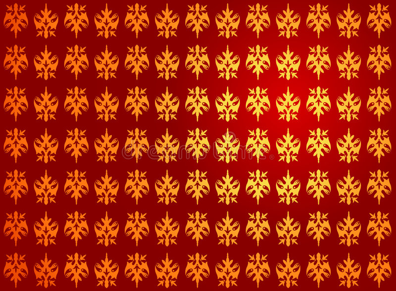 Reticolo reale rosso dorato illustrazione vettoriale