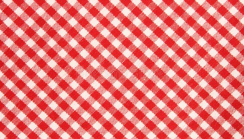 reticolo rosso/bianco del panno di griglia immagini stock libere da diritti