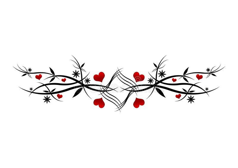 Reticolo rosso dei cuori illustrazione di stock