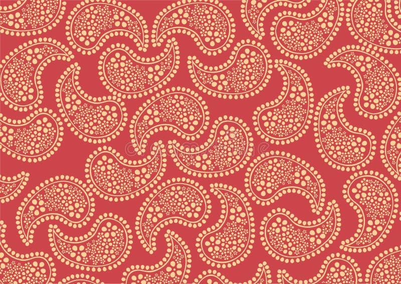Reticolo rosso di Paisley illustrazione vettoriale