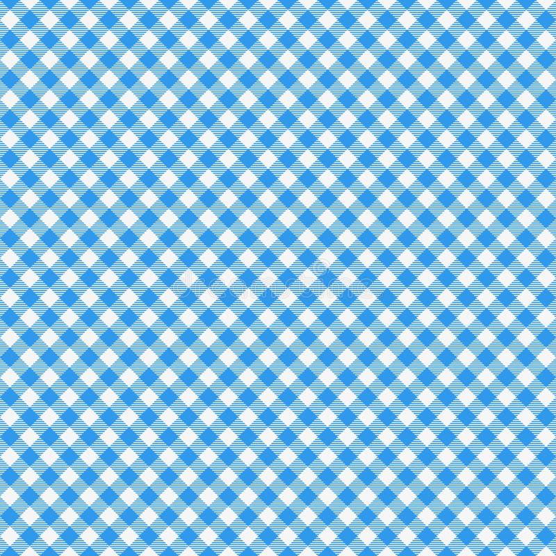 Reticolo senza cuciture del percalle Tovaglia italiana blu Vettore del panno di racconto di picnic illustrazione vettoriale
